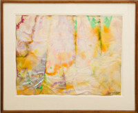 Sam Gilliam, Untitled Painting, Ex- Museum of Modern Art Collection, with MOMA Label (also exhibited at the American Embassy, Moscow), 1968
