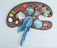 Jane Hammond and Arden Mason, ARTISTS' PALETTE, 2004