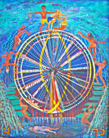 Thelma Appel, THE WHEEL OF FORTUNE from the Journey of the Tarot Series, 2009