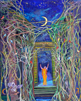Thelma Appel, THE HIGH PRIESTESS from the Journey of the Tarot Series, 2010 From the series Journey of the Tarot Oil on Canvas 50 × 40 in 127 × 101.6 cm, 2010