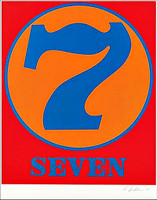Robert Indiana, SEVEN (Sheehan, 52), 1968