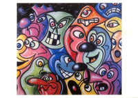 KENNY SCHARF Hand SIGNED (Autographed) & Dated Postcard of Painting 1991 Pop Art