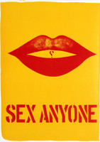 Robert Indiana,  SEX ANYONE from 1 Cent Life Portfolio (Sheehan, 31) - with Pierre Alechinsky lithograph on the reverse side, 1964