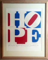 Robert Indiana, HOPE - Dedicated to Bart & Elin, 2008