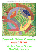 Frank Stella, Democratic Convention for Carter-Mondale (HAND SIGNED), 1980