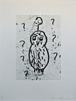 Donald Baechler, OWLS (Plate VII), 1992