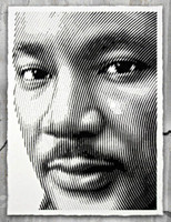 Mr. Brainwash, Portrait of Martin Luther King, 2016