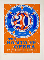 Robert Indiana, SANTA FE OPERA (Signed & Numbered), 1976