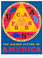 Robert Indiana,  THE GOLDEN FUTURE OF AMERICA (Bicentennial Portfolio: An American Portrait), 1976
