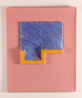 Richard Smith, SEVEN from LOGO SUITE (PINK BLUE), 1971