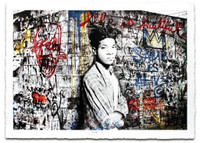 Mr. Brainwash, HOMAGE TO JEAN-MICHEL BASQUIAT (hand finished), 2016