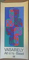 Victor Vasarely, RARE VINTAGE ART BASEL POSTER, 1978