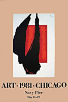 Robert Motherwell, ART CHICAGO LITHOGRAPHIC POSTER, 1981