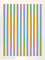 "Bridget Riley, UNTITLED for The Chicago 8 from the Portfolio ""Conspiracy: the Artist as Witness"" (Schubert, 15), 1971"