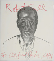 Alfred Leslie, Portrait of art collector Robert Scull, 1968 (from Elaine de Kooning Memorial Portfolio), 1991