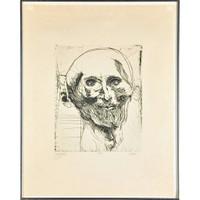 Leonardo Baskin, GERICAULT (Homeage to French painter Jean-Louis André Théodore Géricault), 1963