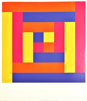 Richard Paul Lohse, GEOMETRIC ABSTRACTION, ca. 1969