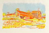 Wolf Kahn, Orange Barns, 1978