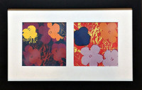 Andy Warhol, FLOWERS (Pair of Two Lithographs), 1983
