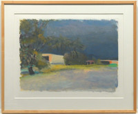 "Wolf Kahn, Untitled Monoprint (from the Estate of artist and collector Edward ""Ted"" Frost), 1992"