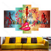 Pink Lips Canvas Set of 5