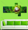 Green Base Canvas Painting