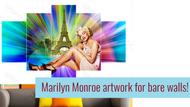 #6 DIY Interior Design Ideas! Hollywood Marilyn Monroe Wall Decor Artwork Video.
