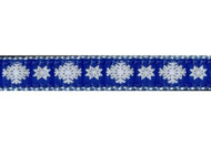 Snowflake Dog Collar and Leash 3/4""
