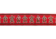 Gingerbread Man Dog Collar and Leash