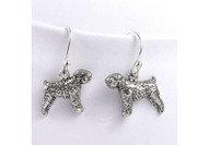 Sterling Silver Wheaten Terrier Earrings
