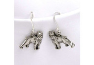 Sterling Silver Brussels Griffon Earrings