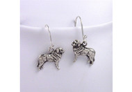 Sterling Silver Bernese Mountain Dog Earrings