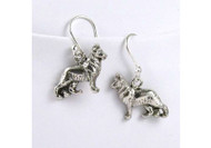 Sterling Silver German Shepherd Earrings