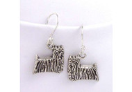 Sterling Silver Yorkshire Terrier Earrings