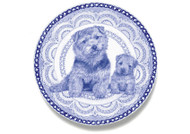 Norfolk Terrier Puppy Blue Plate