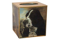 Springer Spaniel Decoupage Tissue Box