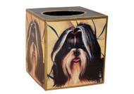 Shih Tzu Decoupage Tissue Box