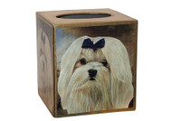 Maltese Decoupage Tissue Box