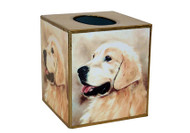 Golden Retriever Decoupage Tissue Box
