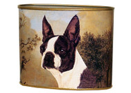 Boston Terrier Decoupage Letter Boxes