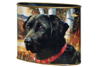 Black Lab Decoupage Letter Box