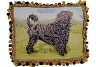 Portuguese Water Dog Needlepoint Pillow Lion Cut
