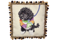 Portuguese Water Dog Needlepoint Pillow (Bo Obama)