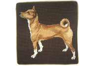 Basenji Needlepoint Pillow
