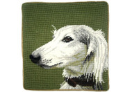 Saluki Needlepoint Pillow