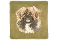 Pekingese Needlepint Pillow (Face)