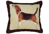 Beagle Needlepoint Pillow (Profile)