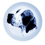 Pointer Danish Blue Dog Plate (Face)