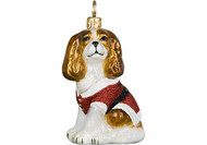 Cavalier King Charles Santa Paws Christmas Ornament