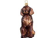 Irish Setter Glass Christmas Ornament